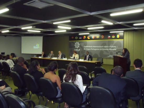 Intervenção de Concha Rousia, sala San Tiago Dantas