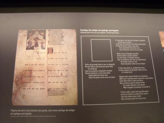 Painel no Museu da Língua Portuguesa