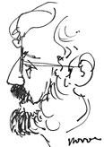 António Gil Hernández; desenho de Carmen Novoa Diz (Ginzo de Límia, 1951- Acrunha, 2002)