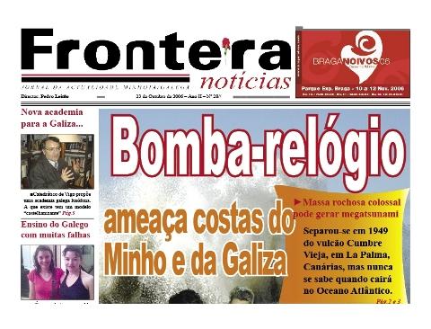 Detalhe da capa do Frontera Notícias