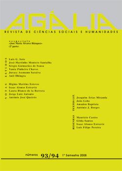 Capa da Revista Agália nº 93-94