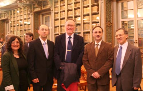Académicos galegos com representantes do Ministério da Cultura e da Embaixada de Espanha