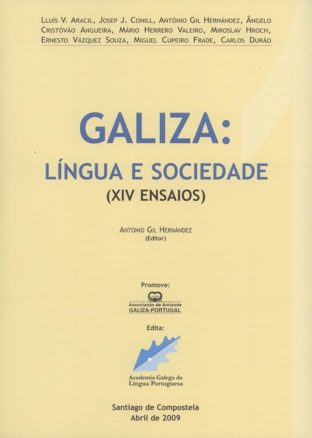 Capa de Galiza: Língua e Sociedade (XIV Ensaios)