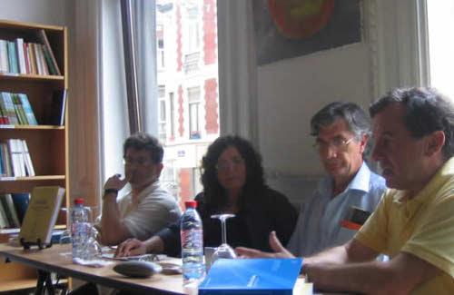 Ernesto Vázquez Souza, Concha Rousia e Carlos Durão com Joaquim Pinto da Silva