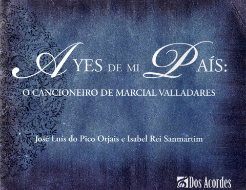 Capa de Ayes de Mi País: o Cancioneiro de Marcial Valladares