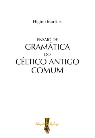 """Capa de """"Ensaio de Gramática do Céltico Antigo Comum"""""""